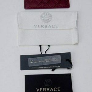 Versace Bags - Versace Greek Keys Leather Credit Card Id Wallet